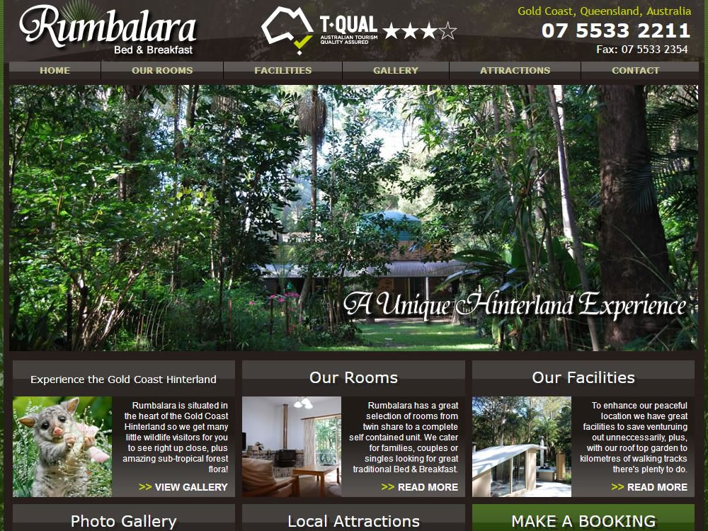 accommodation booking website builder